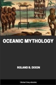 cover page for the Global Grey edition of Oceanic Mythology by Roland B. Dixon