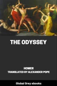 cover page for the Global Grey edition of The Odyssey by Homer
