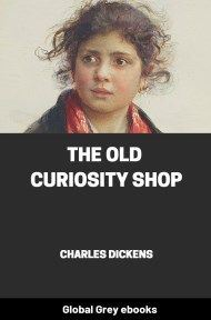 cover page for the Global Grey edition of The Old Curiosity Shop by Charles Dickens
