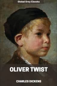 cover page for the Global Grey edition of Oliver Twist by Charles Dickens