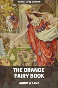cover page for the Global Grey edition of The Orange Fairy Book by Andrew Lang