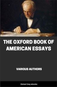 cover page for the Global Grey edition of The Oxford Book of American Essays by Various