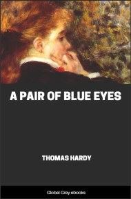 cover page for the Global Grey edition of A Pair of Blue Eyes by Thomas Hardy