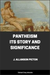 cover page for the Global Grey edition of Pantheism Its Story and Significance by J. Allanson Picton
