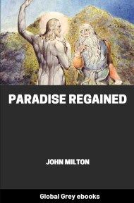 cover page for the Global Grey edition of Paradise Regained by John Milton
