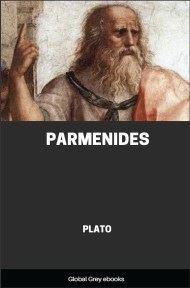 cover page for the Global Grey edition of Parmenides by Plato