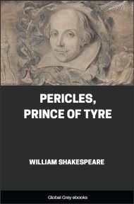cover page for the Global Grey edition of Pericles, Prince of Tyre by William Shakespeare