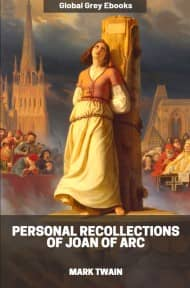 cover page for the Global Grey edition of Personal Recollections of Joan of Arc by Mark Twain