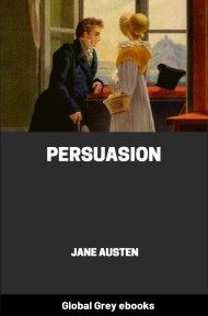 cover page for the Global Grey edition of Persuasion by Jane Austen