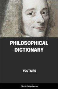 cover page for the Global Grey edition of Philosophical Dictionary by Voltaire