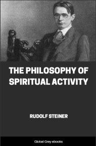 cover page for the Global Grey edition of The Philosophy of Spiritual Activity by Rudolf Steiner