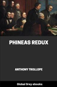 cover page for the Global Grey edition of Phineas Redux by Anthony Trollope