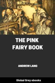 cover page for the Global Grey edition of The Pink Fairy Book by Andrew Lang