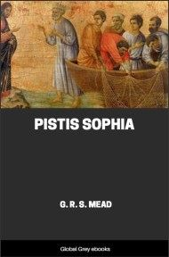 cover page for the Global Grey edition of Pistis Sophia by G. R. S. Mead