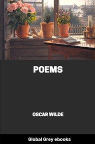 cover page for the Global Grey edition of Poems by Oscar Wilde