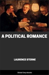 cover page for the Global Grey edition of A Political Romance by Laurence Sterne