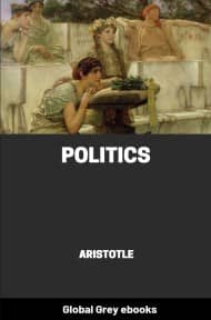 cover page for the Global Grey edition of Politics by Aristotle
