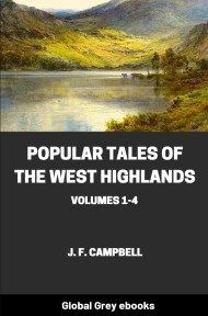 cover page for the Global Grey edition of Popular Tales of the West Highlands, Vols 1-4 by J. F. Campbell