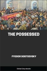 cover page for the Global Grey edition of The Possessed by Fyodor Dostoevsky