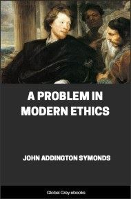cover page for the Global Grey edition of A Problem in Modern Ethics by John Addington Symonds