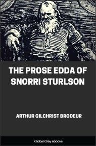 cover page for the Global Grey edition of The Prose Edda of Snorri Sturlson by Arthur Gilchrist Brodeur