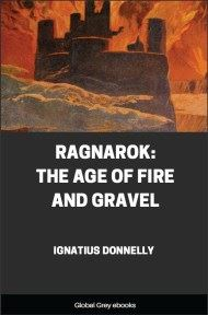 cover page for the Global Grey edition of Ragnarok: The Age Of Fire And Gravel by Ignatius Donnelly