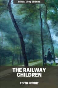 cover page for the Global Grey edition of The Railway Children by Edith Nesbit