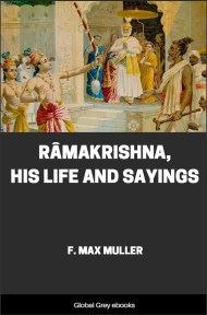 cover page for the Global Grey edition of Ramakrishna, His Life and Sayings by F. Max Muller