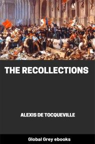 cover page for the Global Grey edition of The Recollections by Alexis de Tocqueville