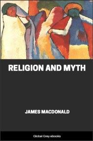 Religion and Myth By James Macdonald
