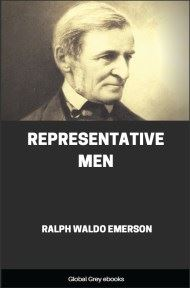 cover page for the Global Grey edition of Representative Men by Ralph Waldo Emerson