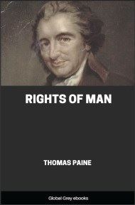 cover page for the Global Grey edition of Rights of Man by Thomas Paine