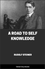 cover page for the Global Grey edition of A Road to Self Knowledge by Rudolf Steiner