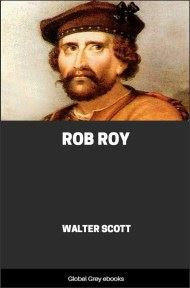 cover page for the Global Grey edition of Rob Roy By Walter Scott