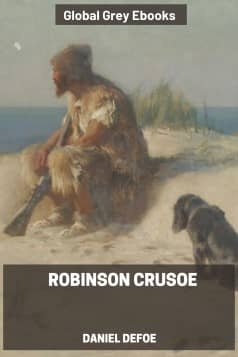 cover page for the Global Grey edition of Robinson Crusoe by Daniel Defoe