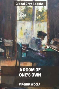cover page for the Global Grey edition of A Room of One's Own by Virginia Woolf