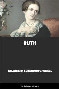 cover page for the Global Grey edition of Ruth By Elizabeth Cleghorn Gaskell