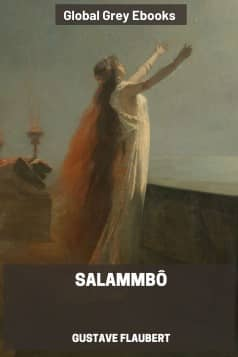 cover page for the Global Grey edition of Salammbô by Gustave Flaubert