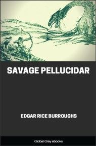 cover page for the Global Grey edition of Savage Pellucidar by Edgar Rice Burroughs