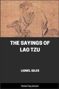 cover page for the Global Grey edition of The Sayings Of Lao Tzu by Lao Tzu