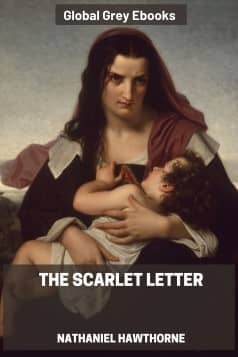 cover page for the Global Grey edition of The Scarlet Letter by Nathaniel Hawthorne