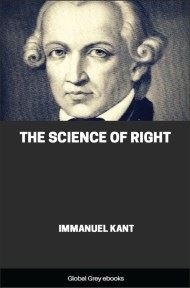 cover page for the Global Grey edition of The Science of Right by Immanuel Kant