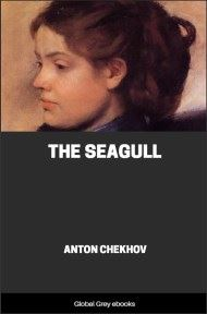 cover page for the Global Grey edition of The Seagull by Anton Pavlovich Chekhov