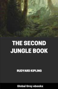 cover page for the Global Grey edition of The Second Jungle Book by Rudyard Kipling