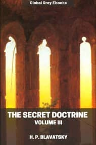 cover page for the Global Grey edition of The Secret Doctrine, Volume III by H. P. Blavatsky