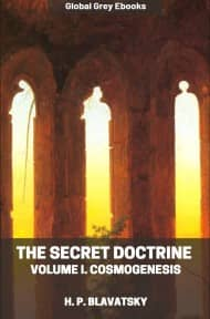 cover page for the Global Grey edition of The Secret Doctrine, Volume I. Cosmogenesis by H. P. Blavatsky