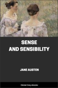 cover page for the Global Grey edition of Sense and Sensibility By Jane Austen