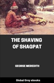 cover page for the Global Grey edition of The Shaving of Shagpat by George Meredith