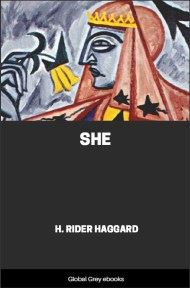 cover page for the Global Grey edition of She by H. Rider Haggard