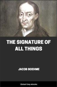 cover page for the Global Grey edition of The Signature of All Things by Jacob Boehme